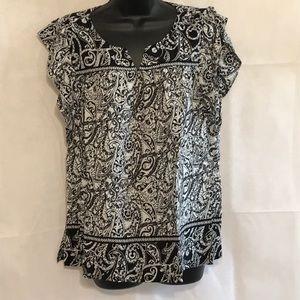 Ann Taylor Loft Paisley Print Blouse Size L—C1